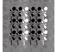 Layered Floral Silhouette Print (5 of 8 please see description) Photographic Print
