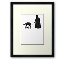 Darth Vader Walking ATAT Framed Print