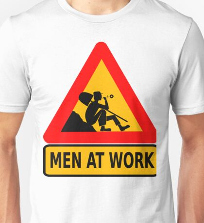 Man At Work Daisy Lazy Unisex T-Shirt