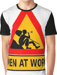 Man At Work Daisy Lazy Graphic T-Shirt