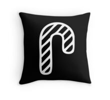 Christmas 2016 - Candycane Design - White, Black and Bright Throw Pillow