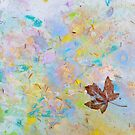 Soaring Leaf 'Rain Painting' by Laurie Miller