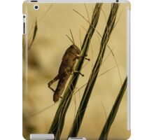 Wild Grashopper on Palm Leaves - Macro/Nature Photography iPad Case/Skin