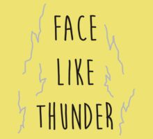 Face Like Thunder Kids Tee