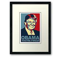 Obama Fired Framed Print