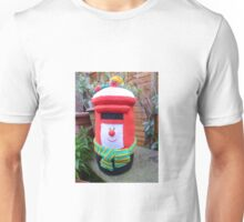 Hand Knitted Red Post Box Unisex T-Shirt