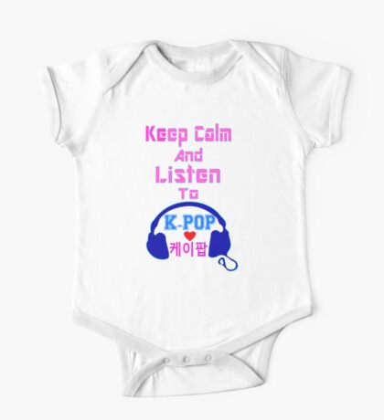 ♫Keep Calm & Listen to K-Pop♪ One Piece - Short Sleeve