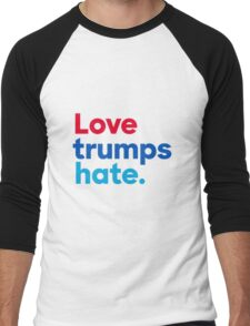 Love trumps hate. Men's Baseball ¾ T-Shirt