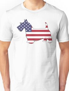 American Flag – Scottish Terrier Unisex T-Shirt