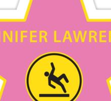 Jennifer Lawrence Falling - Hollywood Star Sticker