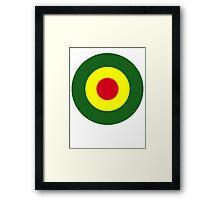 Rasta Mod Target Framed Print
