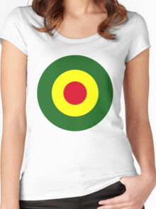Rasta Mod Target Women's Fitted Scoop T-Shirt