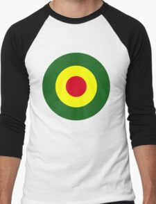 Rasta Mod Target Men's Baseball ¾ T-Shirt