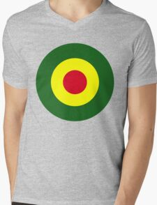 Rasta Mod Target Mens V-Neck T-Shirt