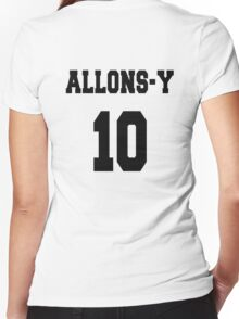 Allons-y - The 10th Doctor Women's Fitted V-Neck T-Shirt