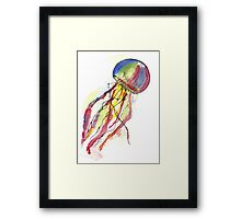 Watercolor Jellyfish Framed Print