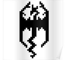 Pixel Skyrim Logo Poster
