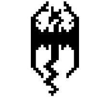 Pixel Skyrim Logo Photographic Print
