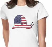 American Flag – Snail Womens Fitted T-Shirt