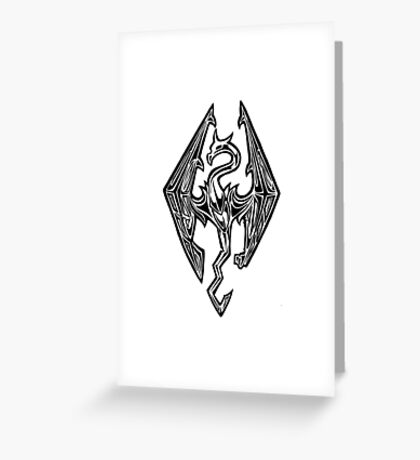 Skyrim Logo Dovah Dragon Greeting Card