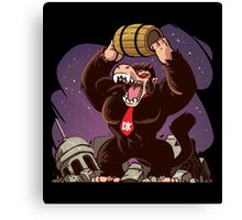 Dragon Donkey Kong Ball Canvas Print