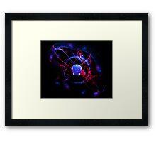 Blue Ball of Energy Framed Print