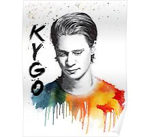 Colorful fanmade portrait of Kygo Poster