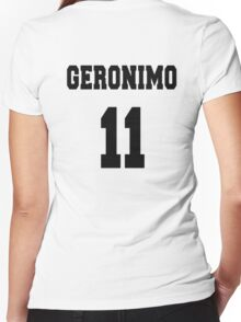 Geronimo - The 11th Doctor Women's Fitted V-Neck T-Shirt