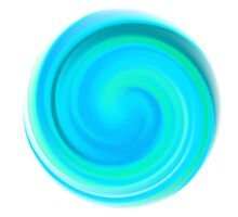 Blue Round Spiral Form by amovitania