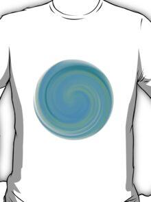 Blue Round Spiral Form T-Shirt