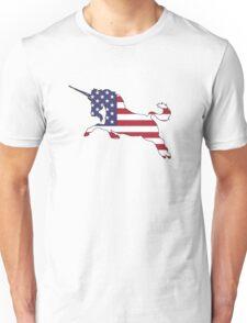 American Flag – Unicorn Unisex T-Shirt