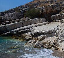 Rocky Edge on a Wild Beach - Travel Photography by JuliaRokicka