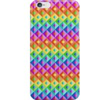 Bright Rainbow Abstract Geometric Background iPhone Case/Skin