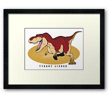 Tyrannosaurus - Paleobeasties 010 Framed Print