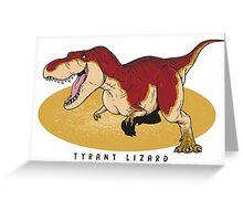 Tyrannosaurus - Paleobeasties 010 Greeting Card