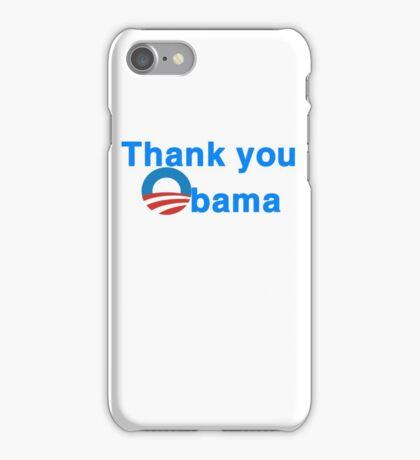 thank you president obama iPhone Case/Skin