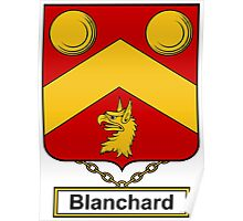 Blanchard Coat of Arms (English) Poster