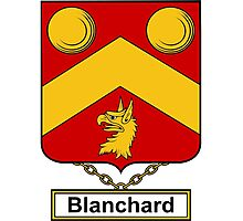 Blanchard Coat of Arms (English) Photographic Print