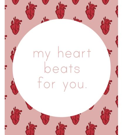 My Heart Beats for You - Pink Sticker