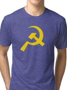 Communist Flag Shapes Tri-blend T-Shirt