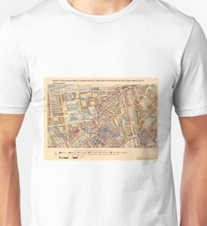 Booth's Map of London Poverty for Brompton & Hans Town ward, Westminster Unisex T-Shirt