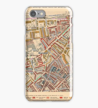 Booth's Map of London Poverty for Brompton & Hans Town ward, Westminster iPhone Case/Skin