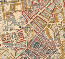 Booth's Map of London Poverty for Brompton & Hans Town ward, Westminster Sticker