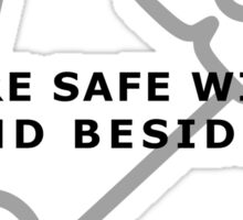 Safetypin - You are safe with me Sticker