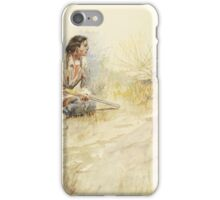 Charles M Russell,  Antelope Hunt,  iPhone Case/Skin