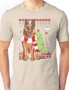 Christmas Ugly Sweater-GERMAN SHEPHERD Unisex T-Shirt