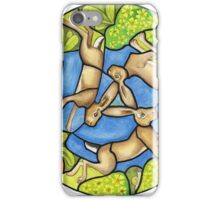 three hares (stained glass) iPhone Case/Skin