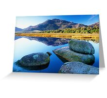 Tidal River Reflection Greeting Card