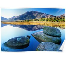 Tidal River Reflection Poster