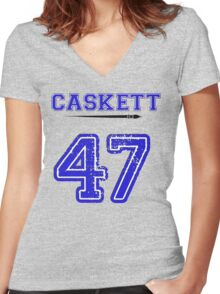 Caskett 47 Jersey Women's Fitted V-Neck T-Shirt
